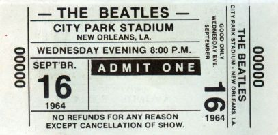 Beatles '64 Ticket