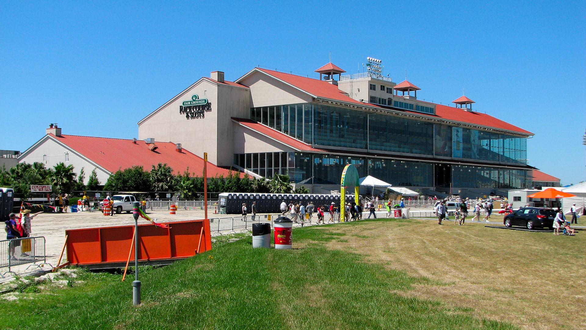 The Fairgrounds grandstand