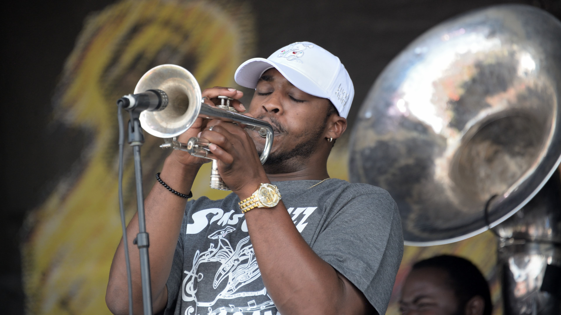 Sons of Jazz Brass Band trumpeter