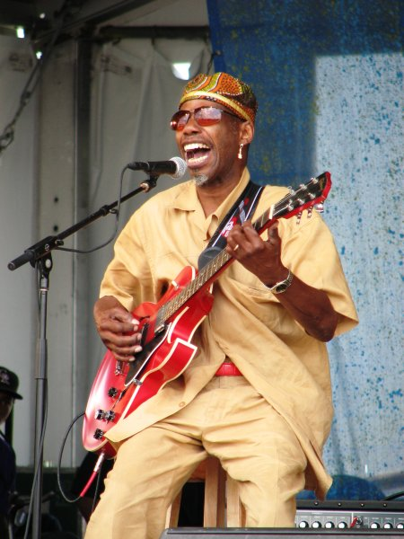 "Walter ""Wolfman"" Washington at Jazz Fest 2009"