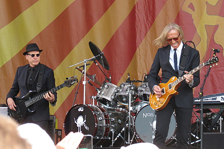 Elton John's bassist and Davey Johnstone