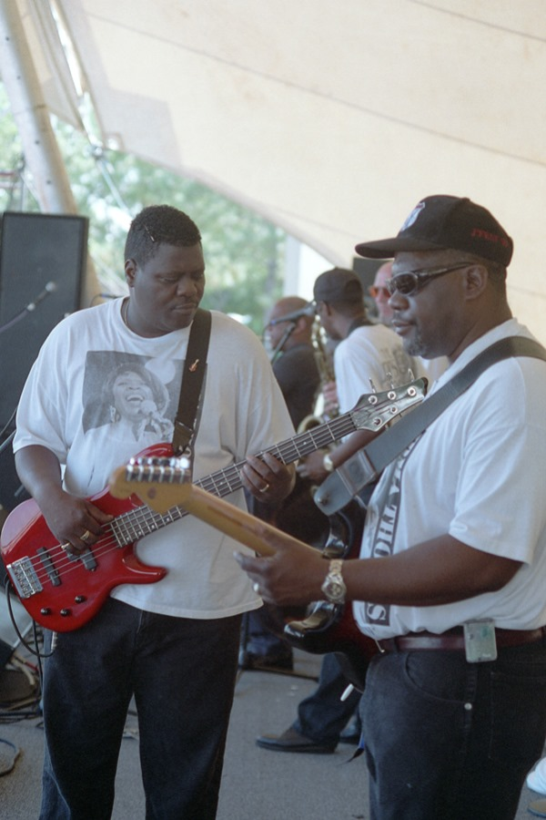 Irma Thomas' band at Jeff Fest 1999