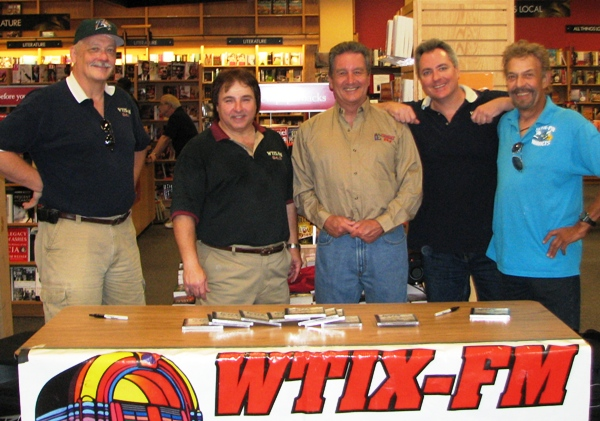 Krewe of 'TIX at signing party for WTIX At the Beach CD