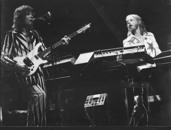 Chris Squire and Rick Wakeman of Yes